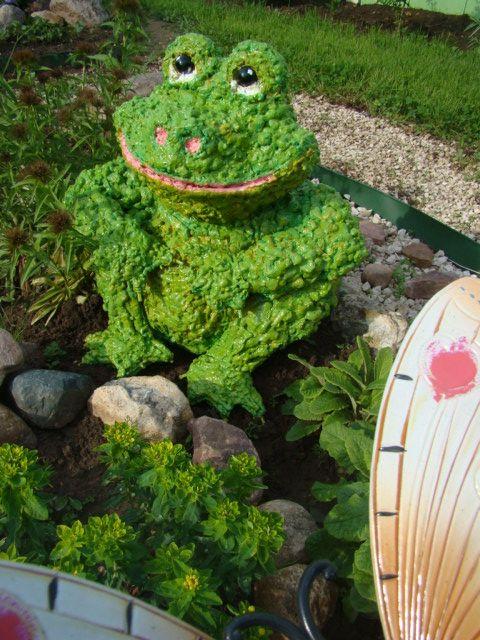 Фигурки из шин для сада своими руками