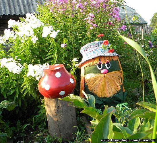 Фото украшений для сада и огорода своими руками