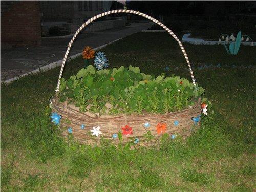 Плетеные корзины для сада своими руками 7