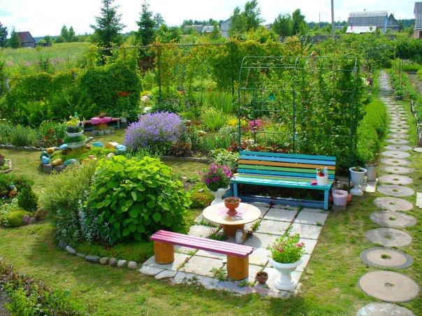 Украсить огород своими руками с фото фото 268