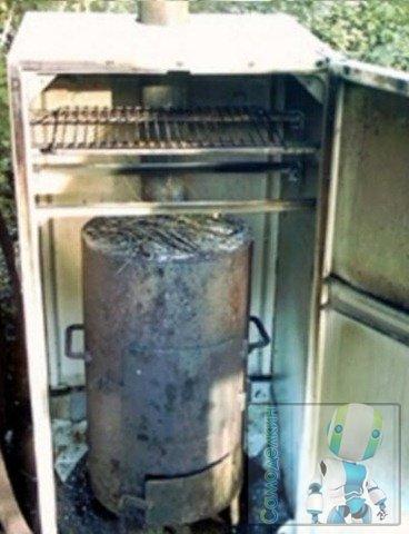 Коптильня из холодильника холодного копчения своими руками