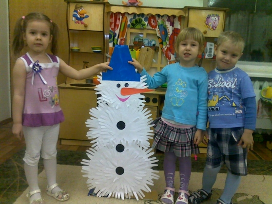 Поделка снеговик в детском саду